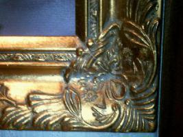 Foto 2 Großes Bild mit Goldrahmen Holz, Keilrahmen, Bild mit Rosen 55, -€ in Bochum