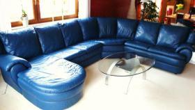 Großzügiges, superbequemes, hochwertiges Sofa!!! Echt Leder--> unempfindlich!!!