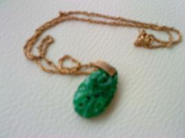 Foto 2 Grüne Maravela kette mit passenden kliep Ohringen