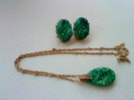 Foto 3 Grüne Maravela kette mit passenden kliep Ohringen