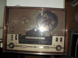 Foto 9 Grundig Tonband TK 341 hifi aus dem Jahr ca. 1965 mit Mikrofon