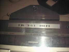 Foto 10 Grundig Tonband TK 341 hifi aus dem Jahr ca. 1965 mit Mikrofon