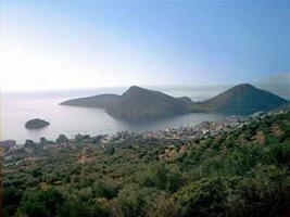 Grundstueck mit Panoramablick auf das Meer/Griechenland