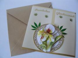 Foto 2 Grusskarten und Kerzen für Hochzeit, Geburtstag, Valentinstag