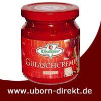 Gulaschcreme Glas Scharf