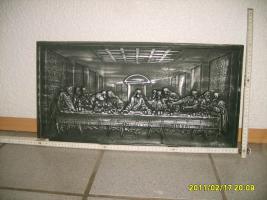 Gussbild ''das letzte Abendmahl''  ca. 60 x 30 cm