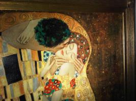 Foto 5 Gustaf Klimt Der Kuss 90x120cm ein Ölgemälde