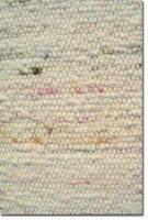 HABBISHAW handgewebter Teppich aus Naturwolle 2 x 2 Meter