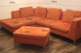 HASAG Sitzgruppe - Couch inkl. Hocker