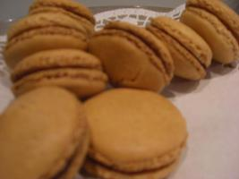 Haselnuss-Macarons mit Schokoladen-buttercreme