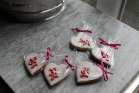 Foto 7 HAUSGEMACHT: Wedding-Cookies oder eßbare Tischkärtchen und Tischdekoration