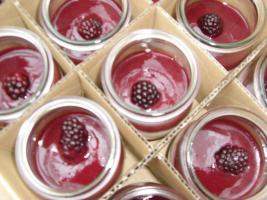 Joghurt-Mousse mit Himbeermark