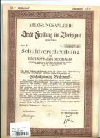 HISTORISCHE WERTPAPIERE 1927 FREIBURG IM BREISGAU