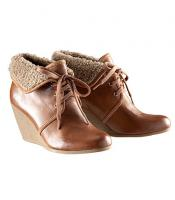H&M Schuhe Keilabsatz braun gefüttert Gummisohle 39