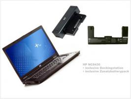 HP Notebook NC8430 mit Dockingstation und Batterypack