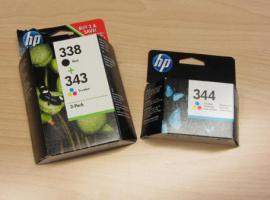 HP Tintenpatronen 338, 343, 344