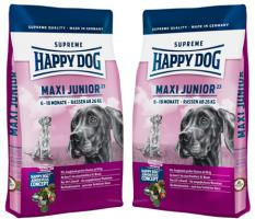 HUNDEFUTTER Happy Dog Maxi Junior Gr. 23 2 x 15 kg