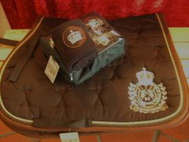 Hv polo crown saddle pad cross passende bandagen in for Schabracke braun
