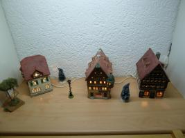 Häuser beleuchtet