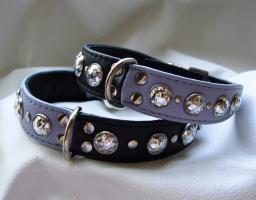 Halsband Harlekin- wunderschönes Lederhalsband handgefertigt