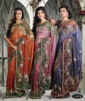 Hand work Party Designer saree (sari)