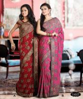 Hand work Wedding Party Designer saree (sari)