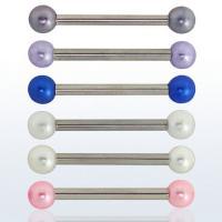 Handel Zungen - Brust Piercing mit verschiedenen Kugeln.