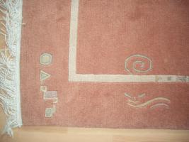 Foto 2 Handgeknüpfter Teppich 200x300 cm terra