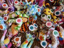 Foto 5 Handgemachte Gluecksbringer fuer Taschen, Hosen, Handys und so weiter.Jedes Teil Uniek und super putzig, einfach suess.