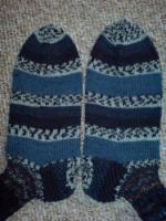 Foto 4 Handgestrickte Wollsocken für den Herrn Gr. 45 NEU
