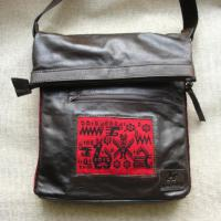 Handtasche Damen Herren Gewebeteilen verziert