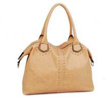 Handtasche von David Jones Markentasche mit Nieten Bag beige