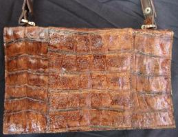Foto 3 Handtasche aus braunem Leder, Henkeltasche