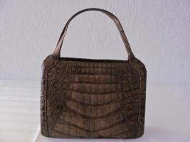 Handtasche, Krokodilleder, 1950