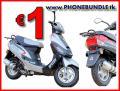 Handy-Bundle mit Motorroller Speedy 4T nur 1 Euro