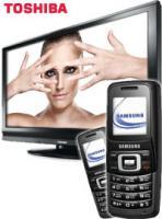 Handy Bundle Toshiba 32 Zoll Flachbild-Fernseher +2xSamsung SGHB130 gratis Handy