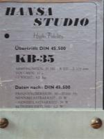 Foto 2 Hansa-Studio-Lautsprecher KB35 mit Edelstahlfuß, gebürstet