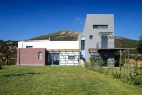 Haus auf Evia, Euboea, Griechenland, Neubau, Meeresblick
