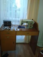 Naumann-Nähmaschine mit Schrank