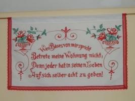 Hausspruch Wandbehang
