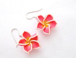 Hawaii Blumen Ohrringe * Modeschmuck*