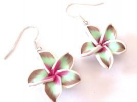 Foto 2 Hawaii Blumen Ohrringe * Modeschmuck*