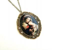 ' Heilige Mutter ' Cameo Kette ( Mosaik Optik )