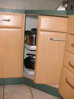 Foto 8 Helle, gepflegte Küche L-Form Eichennachbildung