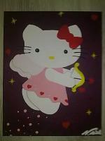 Hello Kitty auf Leindwand!