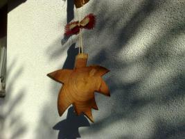 Foto 3 Herbstdekoration Windspiel Herbstlaub aus Lärchenholz