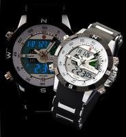 Herren Armbanduhr Sportuhr LCD Digital Anolog Uhr NEU