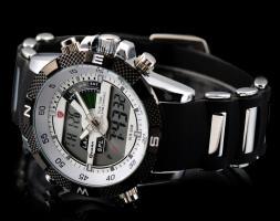 Foto 2 Herren Armbanduhr Sportuhr LCD Digital Anolog Uhr NEU