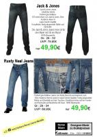 Herren-Jeans  Jack Jones + Rusty Neal + Blackline