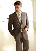 Herren-Wolle-Seide-Anzug tabak von heine - Gr. 58 - Neu & OVP
